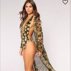 Fashion Nova Royal Sunsuit Set